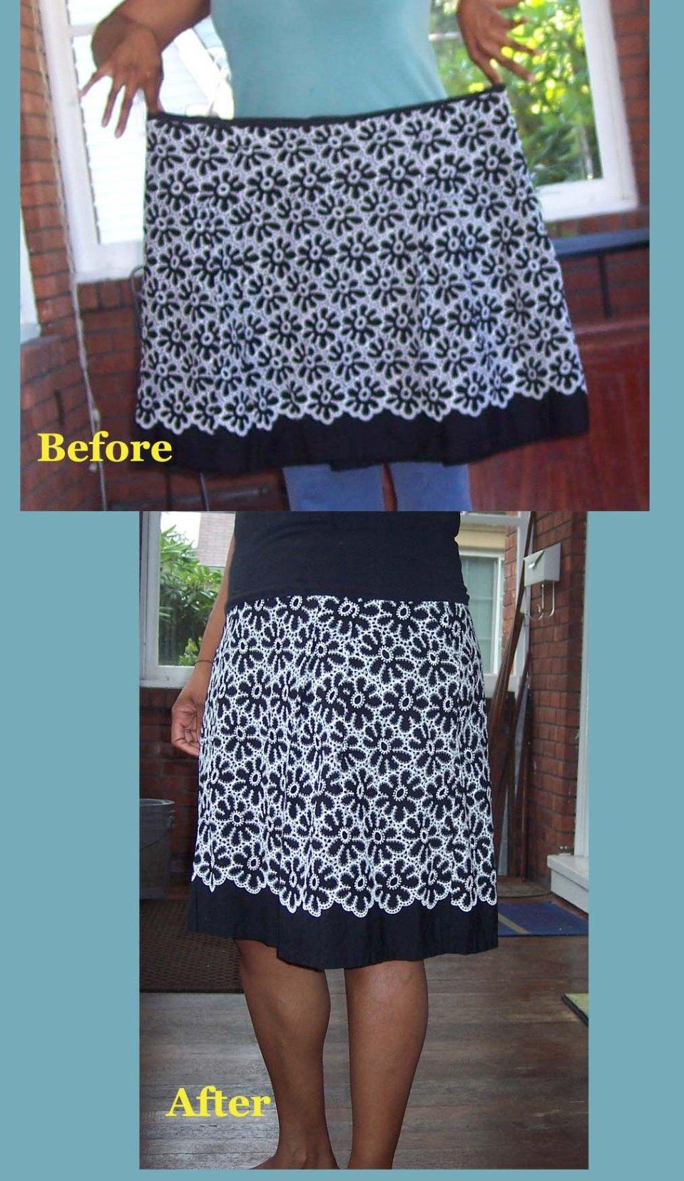 Black  Skirt refashion